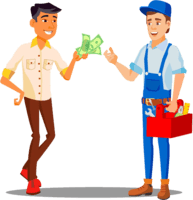 Cash collection vector